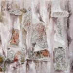 Composizione - 2008 - 60x50cm - tecnica mista su tela:<br> acrilici, olio, carta.