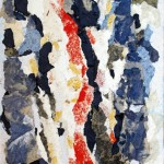 Spazio-Tempo - 2012 - 70x100cm - tecnica mista su tela:<br> acrilici, olio, elementi vegetali, pasta di carta.