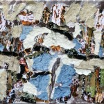 Se non ora quando - 2012 - 50x40cm - tecnica mista su tela:<br> acrilici, carta, stoffa, fotografia.