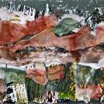 Apparenze - 2011 - 70x50cm - tecnica mista su tela:<br> acrilici, fotografia, stoffe.