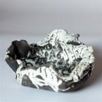 Bianco e nero - 2009 - ciotola raku - ø 20cm - h 12cm