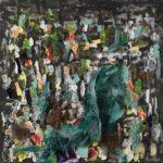 Buio nella notte 2019,cm 60x65,tecnica mista su tela